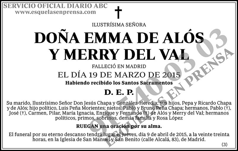 Emma de Alós Y Merry del Val